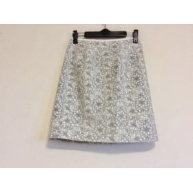 【中古】 ジャスグリッティー JUSGLITTY スカート サイズ0 XS レディース アイボリー グレー 花柄