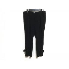 【中古】 トゥービーシック TO BE CHIC パンツ サイズ42 L レディース 美品 黒 リボン着脱可