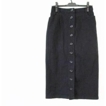 【中古】 ダーマコレクション DAMAcollection ロングスカート サイズ61-89 レディース 黒