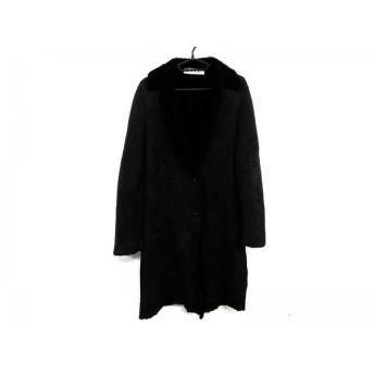 【中古】 マルニ MARNI コート サイズ38 S レディース ダークブラウン 黒 冬物/ムートン