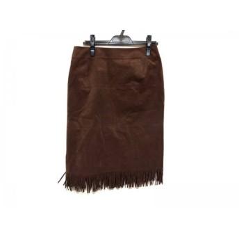 【中古】 ローズティアラ Rose Tiara スカート サイズ42 L レディース 美品 ダークブラウン