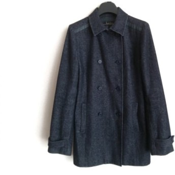 【中古】 ニコルミラー nicole miller コート サイズ4 XL レディース ネイビー 黒 春・秋物