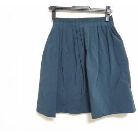 【中古】 エストネーション ESTNATION スカート サイズ36 S レディース ダークグリーン bis