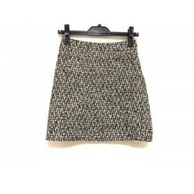 【中古】 エムプルミエ M-PREMIER スカート サイズ34 S レディース 白 黒