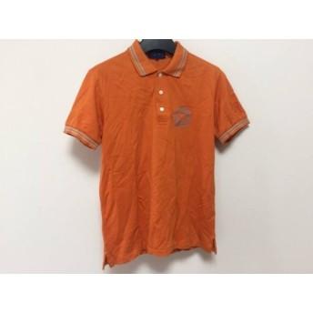 【中古】 パーリーゲイツ 半袖ポロシャツ サイズ1 S メンズ 美品 オレンジ ライトグレー GOLF
