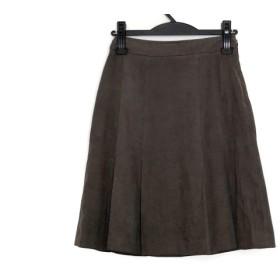 【中古】 ニジュウサンク 23区 スカート サイズ32 XS レディース ダークブラウン