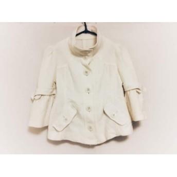 【中古】 バーバリーブルーレーベル コート サイズ38 M レディース アイボリー 春・秋物/ショート丈 綿