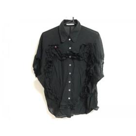 【中古】 ツモリチサト TSUMORI CHISATO 半袖シャツブラウス サイズ2 M レディース 黒 フリル