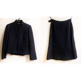 【中古】 バレンシアガ BALENCIAGA スカートスーツ サイズ38 M レディース 黒