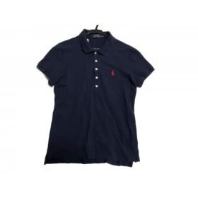 【中古】 ポロラルフローレン POLObyRalphLauren 半袖ポロシャツ サイズL レディース 美品 ネイビー