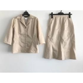 【中古】 インディビ INDIVI スカートスーツ サイズ38 M レディース ベージュ