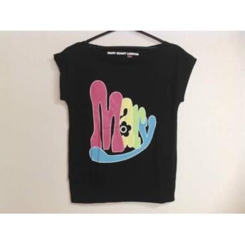 【中古】 マリークワント MARY QUANT 半袖Tシャツ サイズM レディース 黒 ピンク マルチ