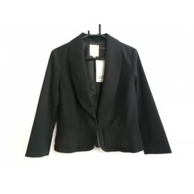 【中古】 ビームスハート BEAMSHEART ジャケット サイズ0 XS レディース 黒 ショート丈/たぐ付き