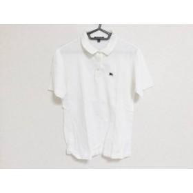 【中古】 バーバリーロンドン Burberry LONDON 半袖ポロシャツ サイズL レディース 白