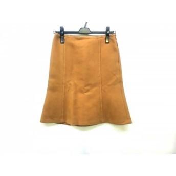 【中古】 バーバリーブルーレーベル Burberry Blue Label スカート サイズ36 S レディース ブラウン
