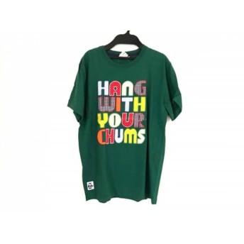 【中古】 チャムス CHUMS 半袖Tシャツ サイズS メンズ グリーン レッド マルチ