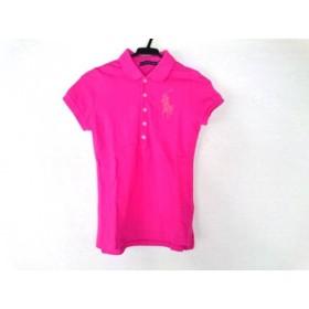 【中古】 ラルフローレン 半袖ポロシャツ サイズXS XS レディース ビッグポニー ピンク ラインストーン