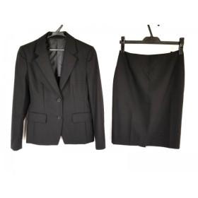 【中古】 レミュー LES MUES スカートスーツ サイズS レディース 黒