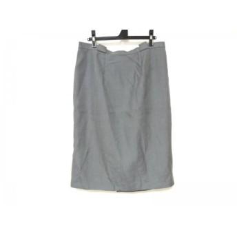 【中古】 レリアン Leilian スカート サイズ17+ XL レディース グレー プリーツ