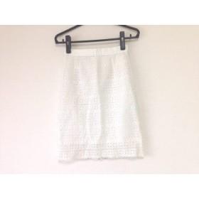 【中古】 バナーバレット BannerBarrett スカート サイズ36 S レディース 美品 白