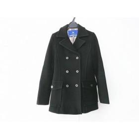 【中古】 バーバリーブルーレーベル Burberry Blue Label コート サイズ38 M レディース 黒 冬物