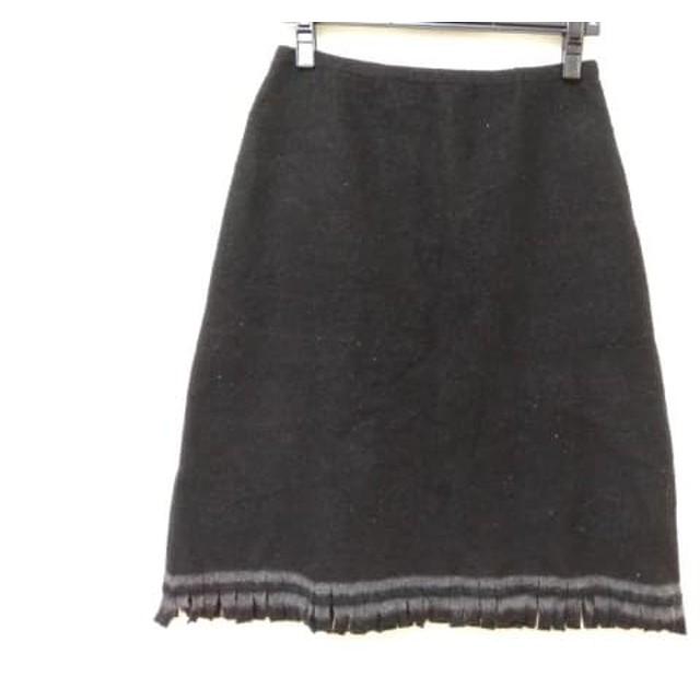 【中古】 アンテプリマ ANTEPRIMA スカート レディース 黒 ダークグレー フリンジ