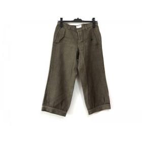【中古】 ツモリチサト パンツ サイズ2 M レディース ダークブラウン クロップド/ダメージ加工