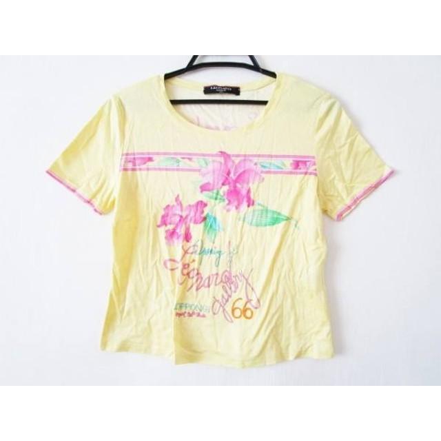 【中古】 レオナール 半袖カットソー サイズ40 M レディース イエロー ピンク マルチ FASHION/花柄