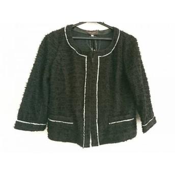 【中古】 ジャスグリッティー JUSGLITTY ジャケット サイズ2 M レディース 美品 黒 シルバー ラメ