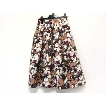 【中古】 マイストラーダ ロングスカート サイズ38 M レディース ベージュ アイボリー マルチ 花柄