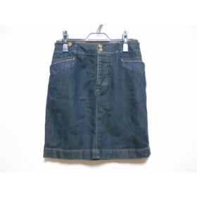【中古】 ラルフローレン RalphLauren スカート サイズ9 M レディース ダークネイビー デニム