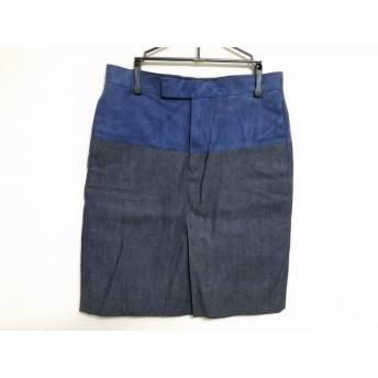 【中古】 サイ SCYE スカート サイズ36 S レディース ネイビー ダークネイビー