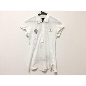 【中古】 ゾーイ ZOY 半袖ポロシャツ レディース 白 ダークグレー