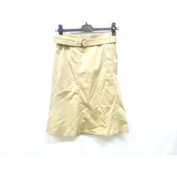 【中古】 バーバリーロンドン Burberry LONDON スカート サイズ36 M レディース ベージュ