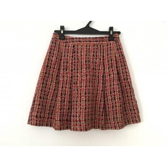 【中古】 クローラ CROLLA スカート サイズ36 S レディース ベージュ ピンク マルチ
