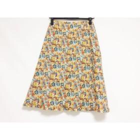 【中古】 スキャパ Scapa スカート サイズ38 L レディース オレンジ ブルー マルチ 花柄