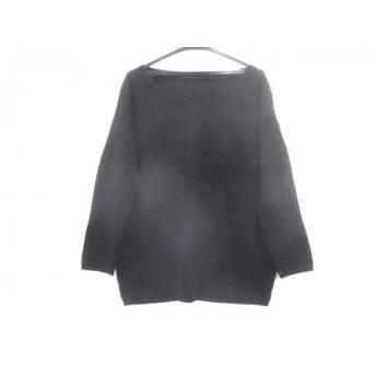 【中古】 ノーブランド 七分袖セーター サイズF レディース 黒