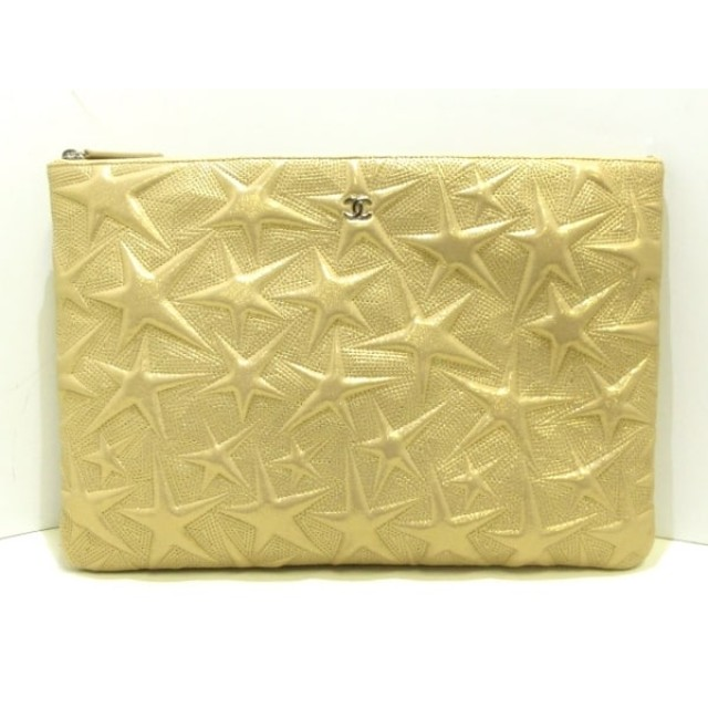 0001522edf7b 【中古】 シャネル CHANEL クラッチバッグ 美品 - A70102 ゴールド スター/シルバー金具