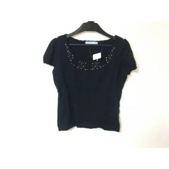 【中古】 キスミス Xmiss 半袖セーター サイズ37サイズ レディース 黒 アイボリー クリア