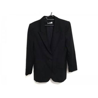 【中古】 イヴサンローランリヴゴーシュ ジャケット サイズ38 M レディース 美品 黒 肩パッド/刺繍