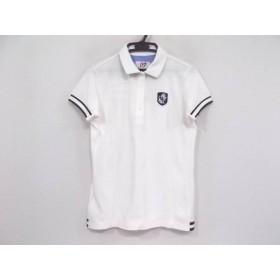 【中古】 マスターバニーエディション 半袖ポロシャツ サイズ2 M レディース 白 ダークネイビー