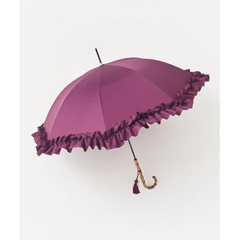 <GRACY/グレイシィ> 婦人 雨傘 無地フリル(GRC35010214-1) パープル(83) 【三越・伊勢丹/公式】