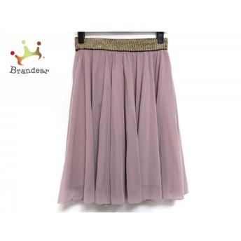 アチャチュム ahcahcum スカート サイズ1 S レディース 美品 ピンク×ゴールド×黒 ウエストゴム   スペシャル特価 20200301