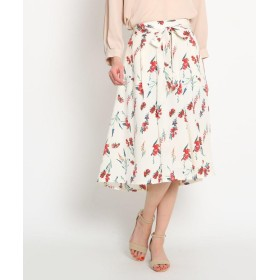 AG by aquagirl(エージー バイ アクアガール) 【洗える】リボンベルト付き花柄スカート