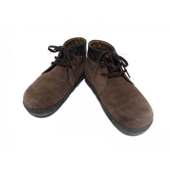 【中古】 フットプリンツ Footprints シューズ 37 レディース ブラウン BIRKEN STOCK スエード