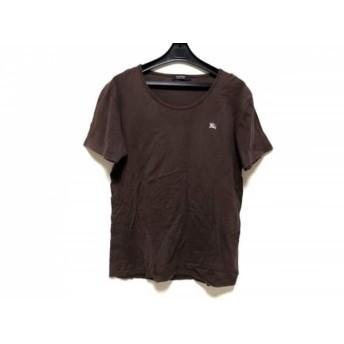 【中古】 バーバリーブラックレーベル 半袖Tシャツ サイズ3 L メンズ ダークブラウン