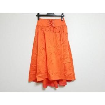 【中古】 エレンディーク ELENDEEK ロングスカート サイズ2 M レディース 美品 オレンジ
