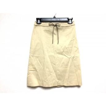 【中古】 バーバリーブルーレーベル スカート サイズ38 M レディース ベージュ 黒 マルチ
