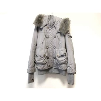 【中古】 スライ SLY コート サイズ2 M レディース ライトグレー 冬物