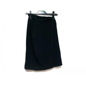【中古】 マックスマーラ Max Mara スカート サイズ40 M レディース 黒 白 ストライプ